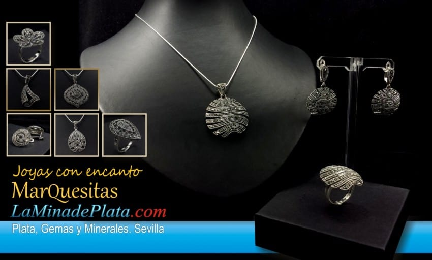 joyas de plata y marquesitas engastadas