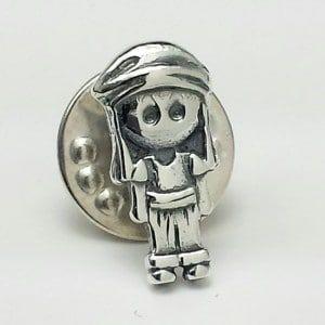 Pin del costalero en plata