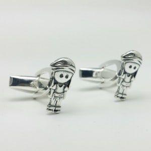 Gemelos de los costaleros en plata