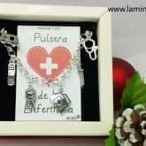 Pulsera de la Enfermera en plata.