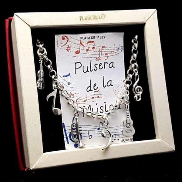 Pulsera de la Música en plata.