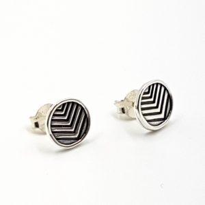 Pendientes con círculo en plata